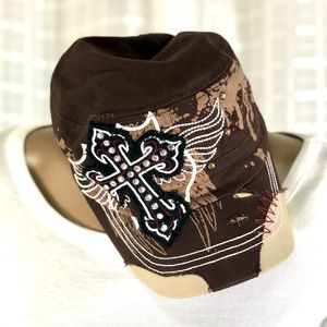 CROSS AND WINGS BROWN CADET HAT MILITARY CASTRO
